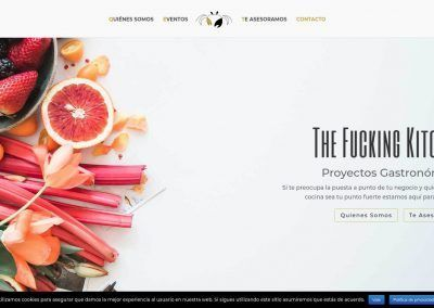 The Fucking Kitchen; proyecto web